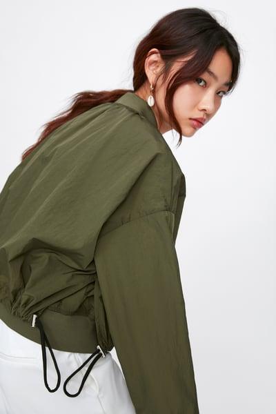 579cb8cc0 ZARA - Female - Contrast bomber jacket - Khaki - Xs in 2019 ...