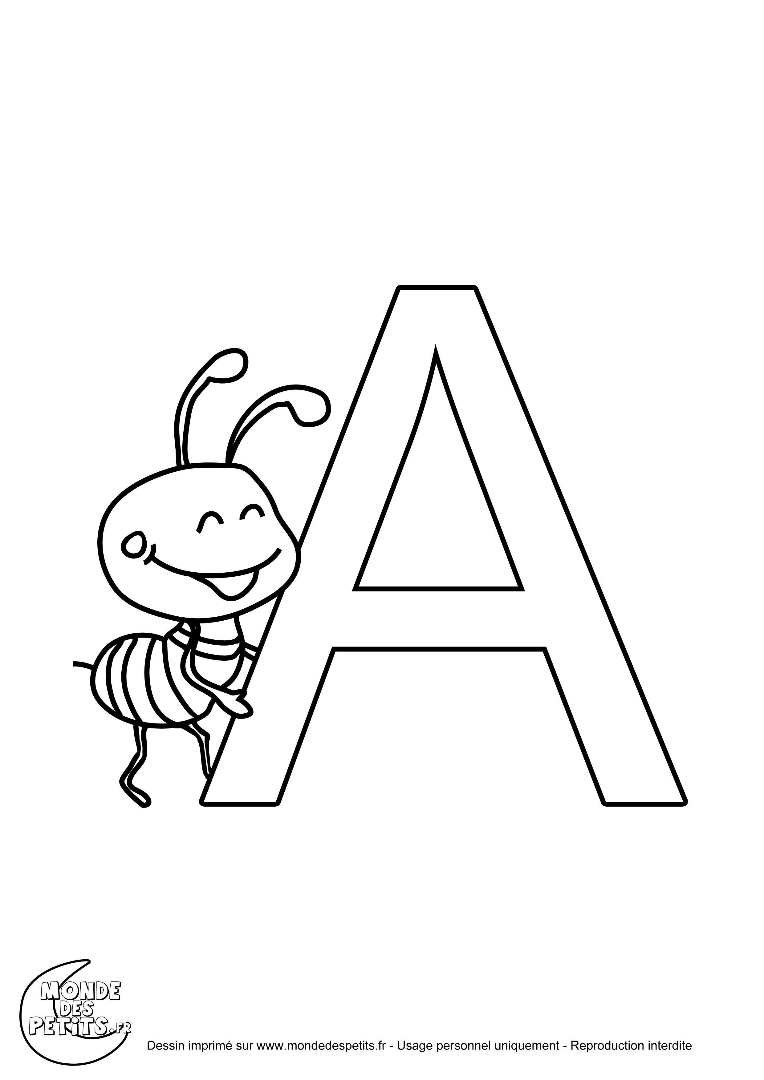Pingl par magali dias sur activit maternelle alphabet et decals - Alphabet a colorier a imprimer ...