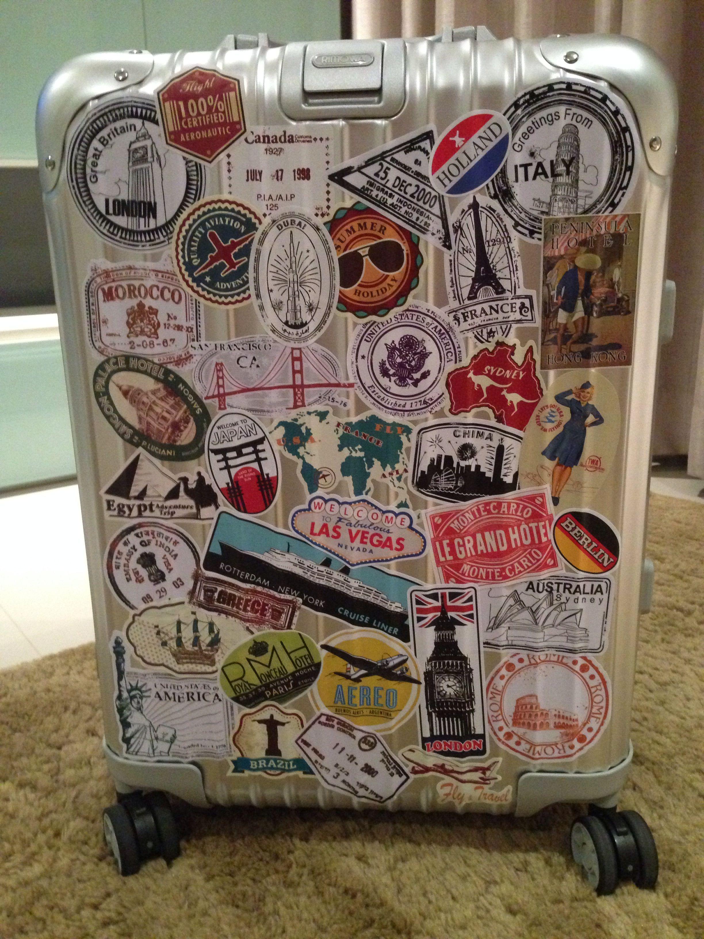 Наклейки на чемодан с картинками страница