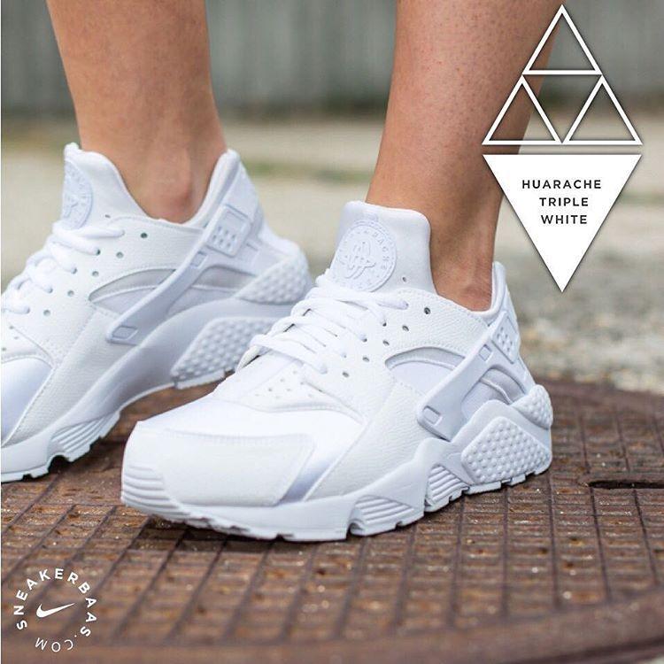 Sneakerbaas On Instagram Nike Huarache Triplewhite Nike Sneakerbaas Baasbovenbaas Nike Air Huarache Triple White The Sock Like Construction Made Bas