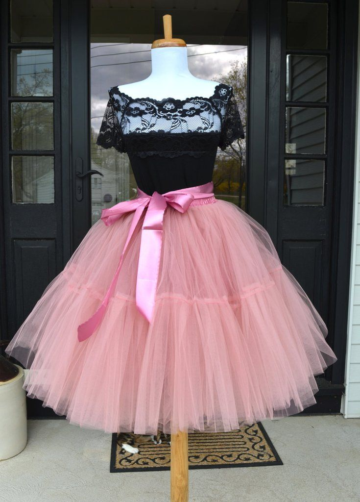Dusty Rose Pink Tulle skirt | Tul, Vestiditos y Ropa femenina
