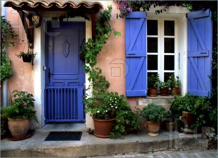 Photo of this house in the south of france has colors that are so photo of blue door in provence france planetlyrics Gallery