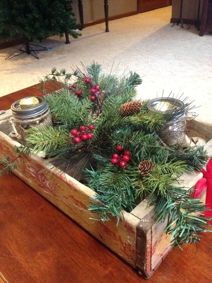 30 Christmas Coffee Table Decor Ideas Homelizm Com Christmas Coffee Table Decor Rustic Winter Decor Decorating Coffee Tables