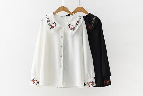 Kawaii Vintage Embroidery Blouse from KoKo Fashion Trendy Outfits