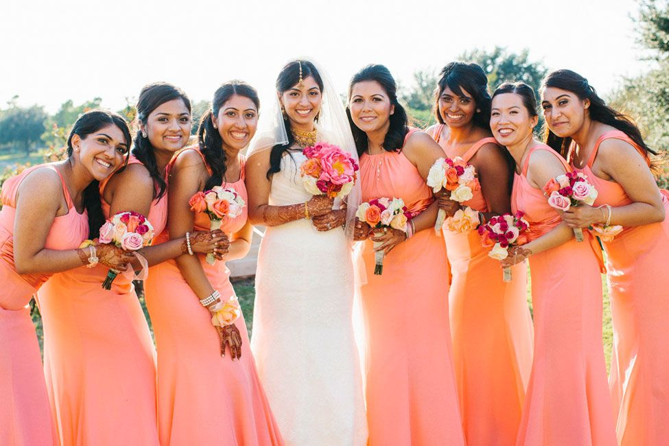 Nouveau Indian Christian Houston Wedding In Mixed Pinks Crystals