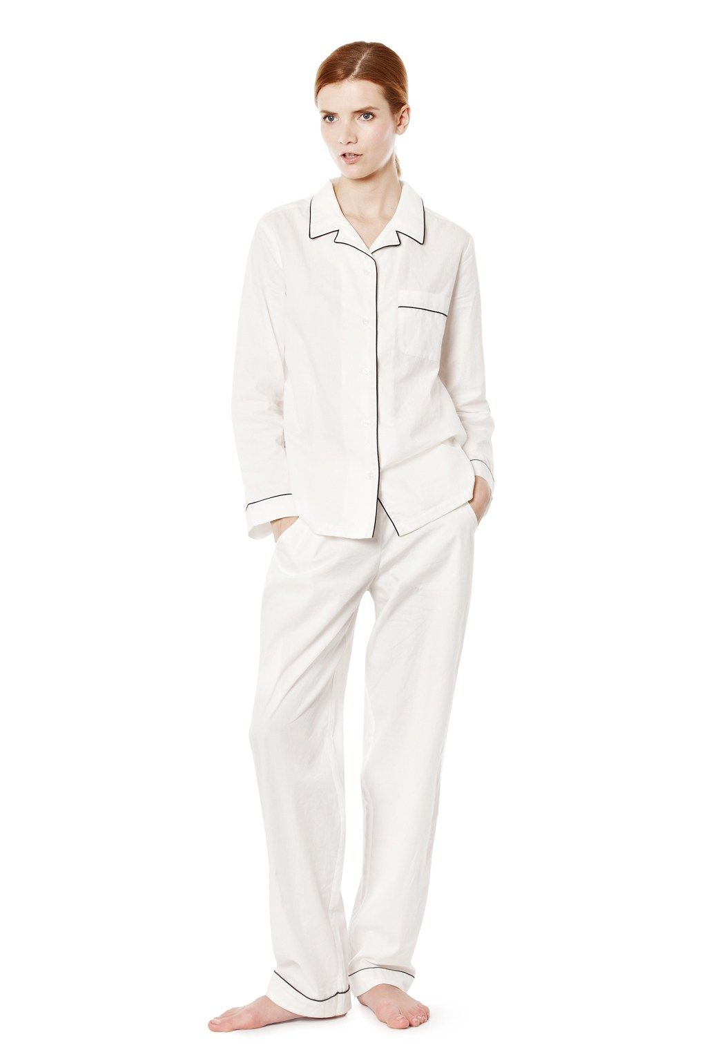 436aadd5cd White Cotton Pyjamas Set - Nightwear - French Connection