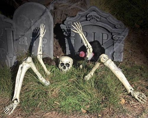 new skeleton parts buried in ground outdoor halloween decoration party prop set - Halloween Decorations Skeleton