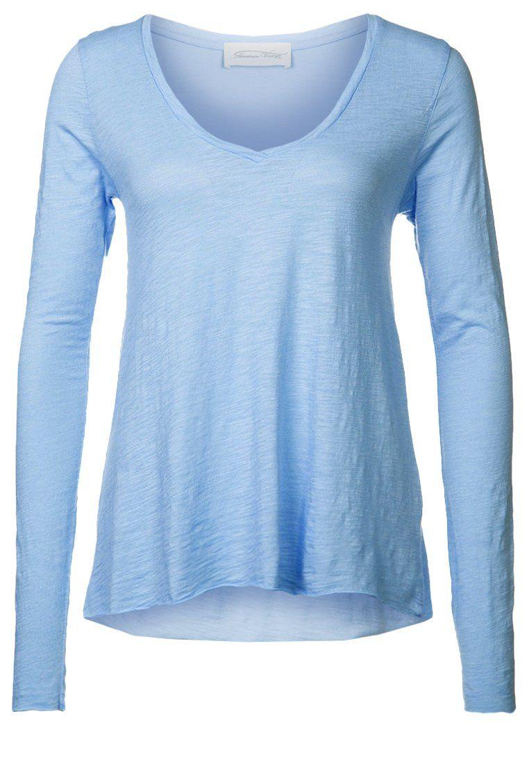 American Vintage - JACKSONVILLE - Long sleeved top - blue