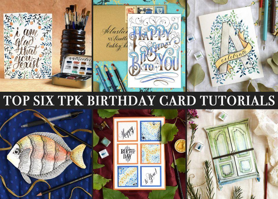 Top 6 TPK Birthday Card Tutorials The Postman's Knock