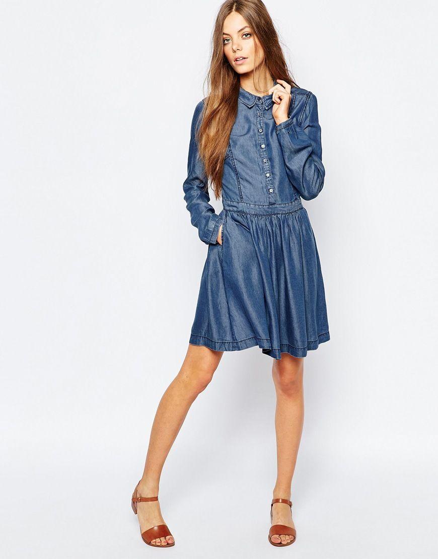 Image 4 - Hilfiger - Robe en jean. Robe AsosGarde RobeRobes Chemise ... 348ef68aca43