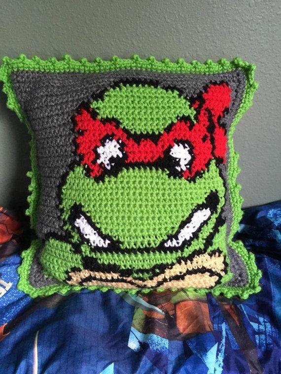 Teenage Mutant Ninja Turtle Crochet Kids Pillow by BrookeDanielsCo ...