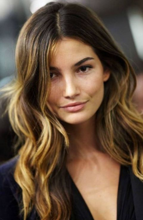 Ombré hair color, newest trend for 2013. Darker long roots ...