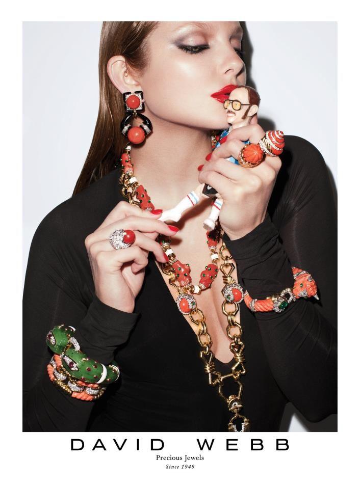David Webb jewels / Spring 2012 ad.   Eniko Mihalik, model.   Terry Richardson, photographer.   Carine Roitfeld, stylist.