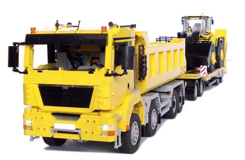 MAN TGS 8x4 Dump Truck with Drawbar trailer. | Flickr - Photo Sharing!