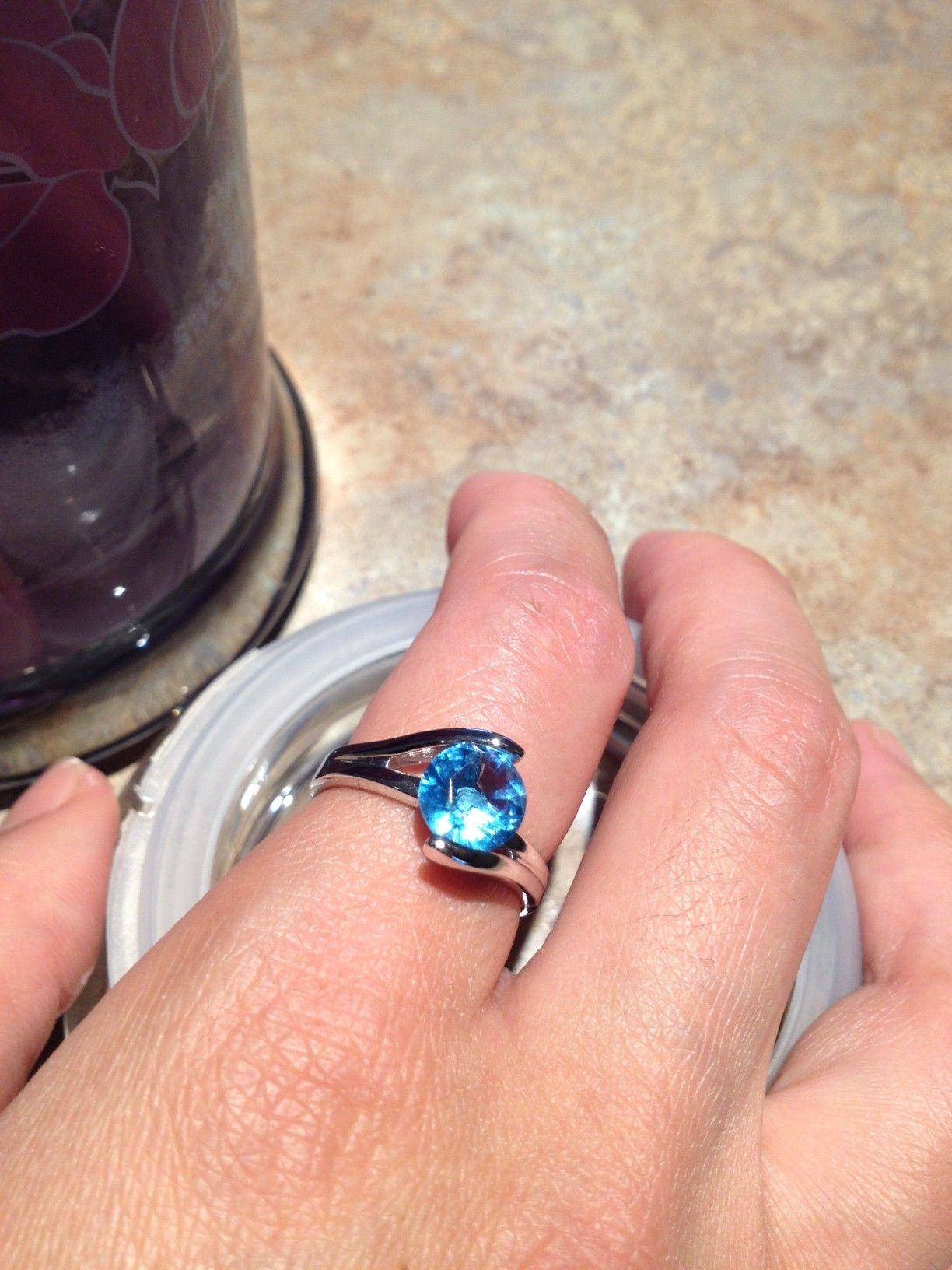 Diamond Candle ring from my Sweety Pea. Stamped Thailand and GR ...
