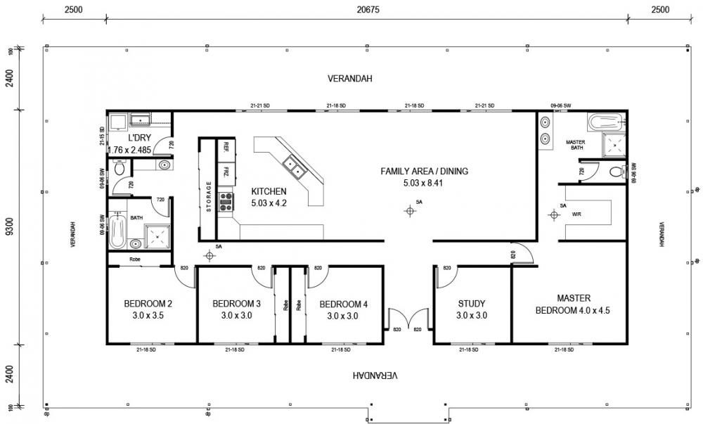 Country Estate 2 Floor Plan Pole barn house kits Pinterest