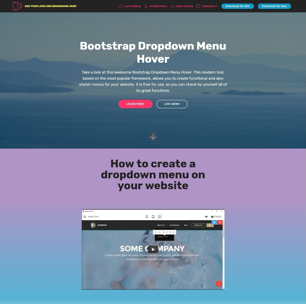 Bootstrap Dropdown Menu Hover Throughout Drop Down Menu Template Html 10 Professional Templates Ideas 10 Profes Menu Template Templates Business Template