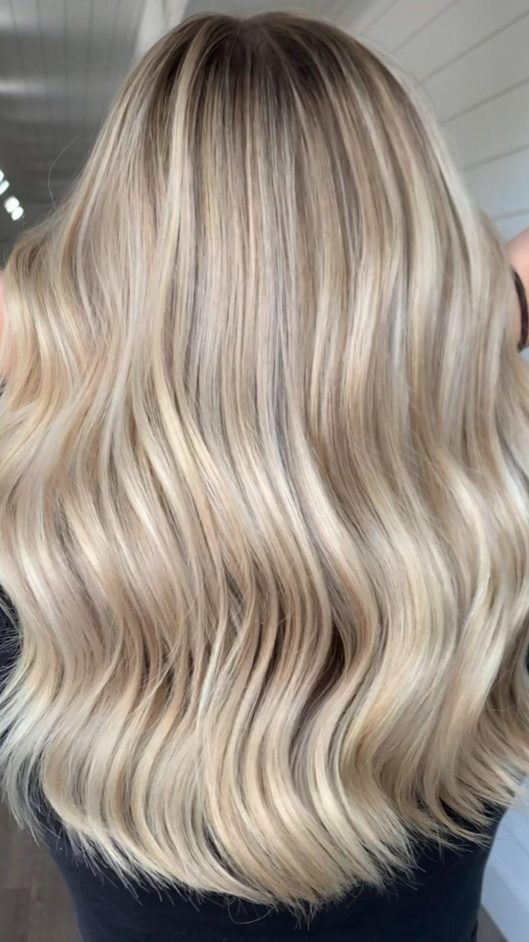 Blonde balayage highlights