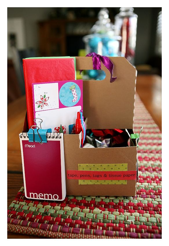 The Gift Wrap Caddy Gift Wrapping Gifts Christmas Projects