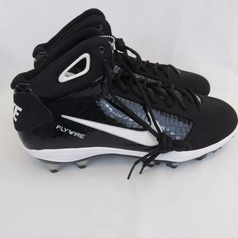 new concept 09386 53fe4 New Nike Flywire Football Cleats 13.5 Black White Men s Shoes  Nike