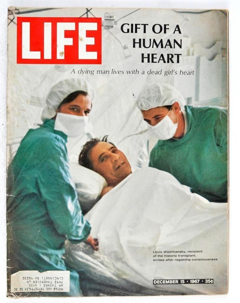 Vintage Life Magazine 1967 December 15 Gift of Human Heart Transplant Opera  | eBay