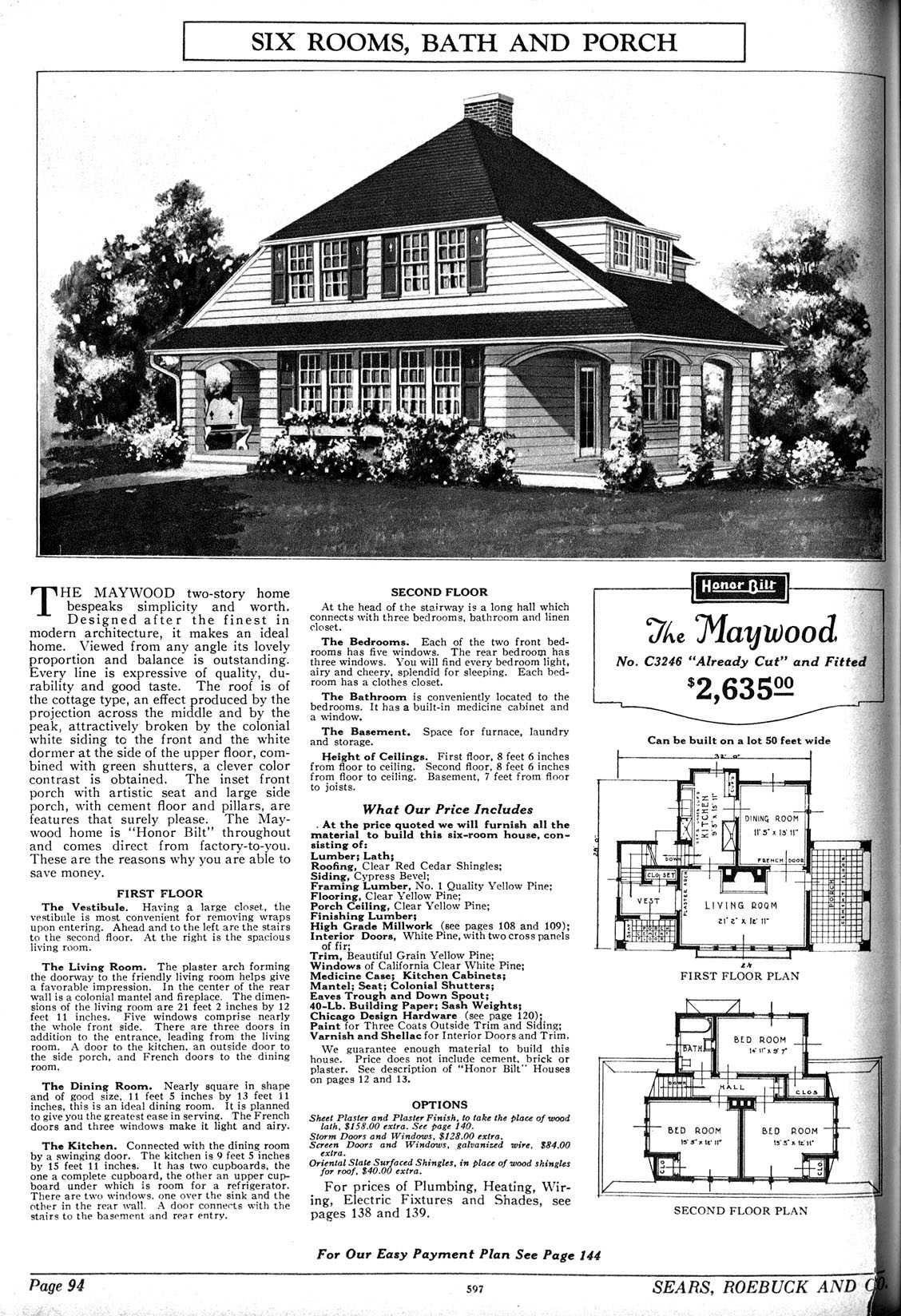 Sears Maywood 1927; 1928(C3272); 1929(C3272); 1930 | (11) Hipped ...