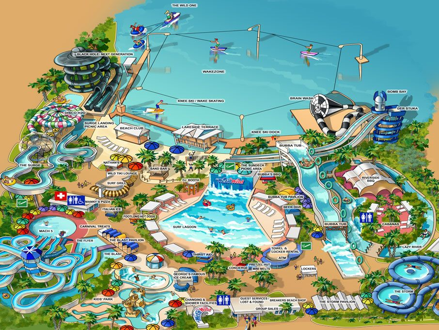 Wet N Wild Water Park Map Yboa Basketball Camp Usa Youth