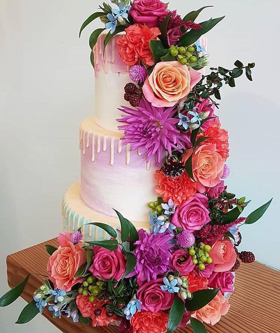 100 Pretty Wedding Cakes To Inspire You #weddingcake #cake #rusticweddingcake #weddingcakes #nakedweddingcake
