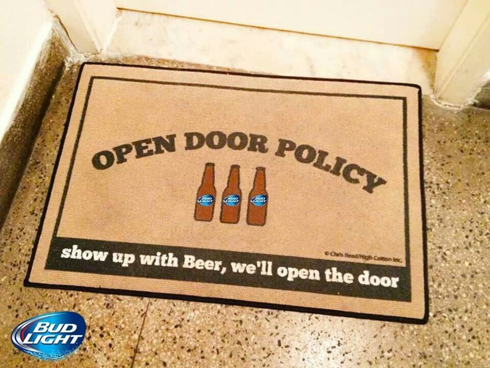 open door welcome mat. Doormat For The His Mancave! Just Needs To Say Beer And A Sandwich! Open Door Welcome Mat