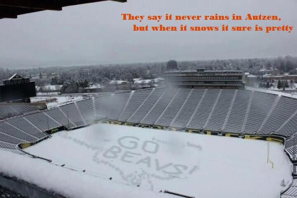 Snow in Autzen :P