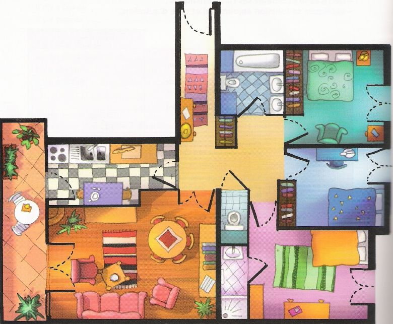 Exercices de français sur le thème  Ma maison FRENCH Learning - dessiner son plan de maison