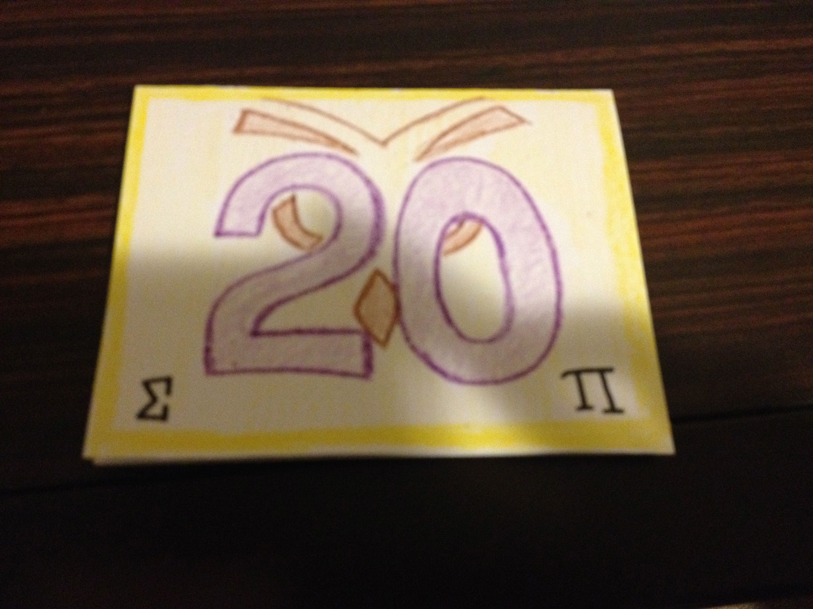Boyfriends 20th birthday card with fraternity letters and symbols boyfriends 20th birthday card with fraternity letters and symbols sigma pi owls buycottarizona