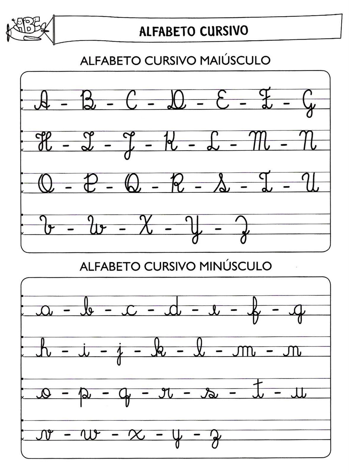 Abecedario Caligrafia Cursiva Para Imprimir Imagui Letra Cursiva Alfabeto Abecedario Letra Cursiva Abecedario En Cursiva