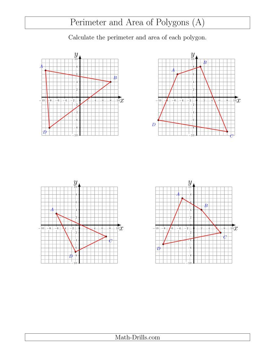 The Perimeter and Area of Polygons on Coordinate Planes (A