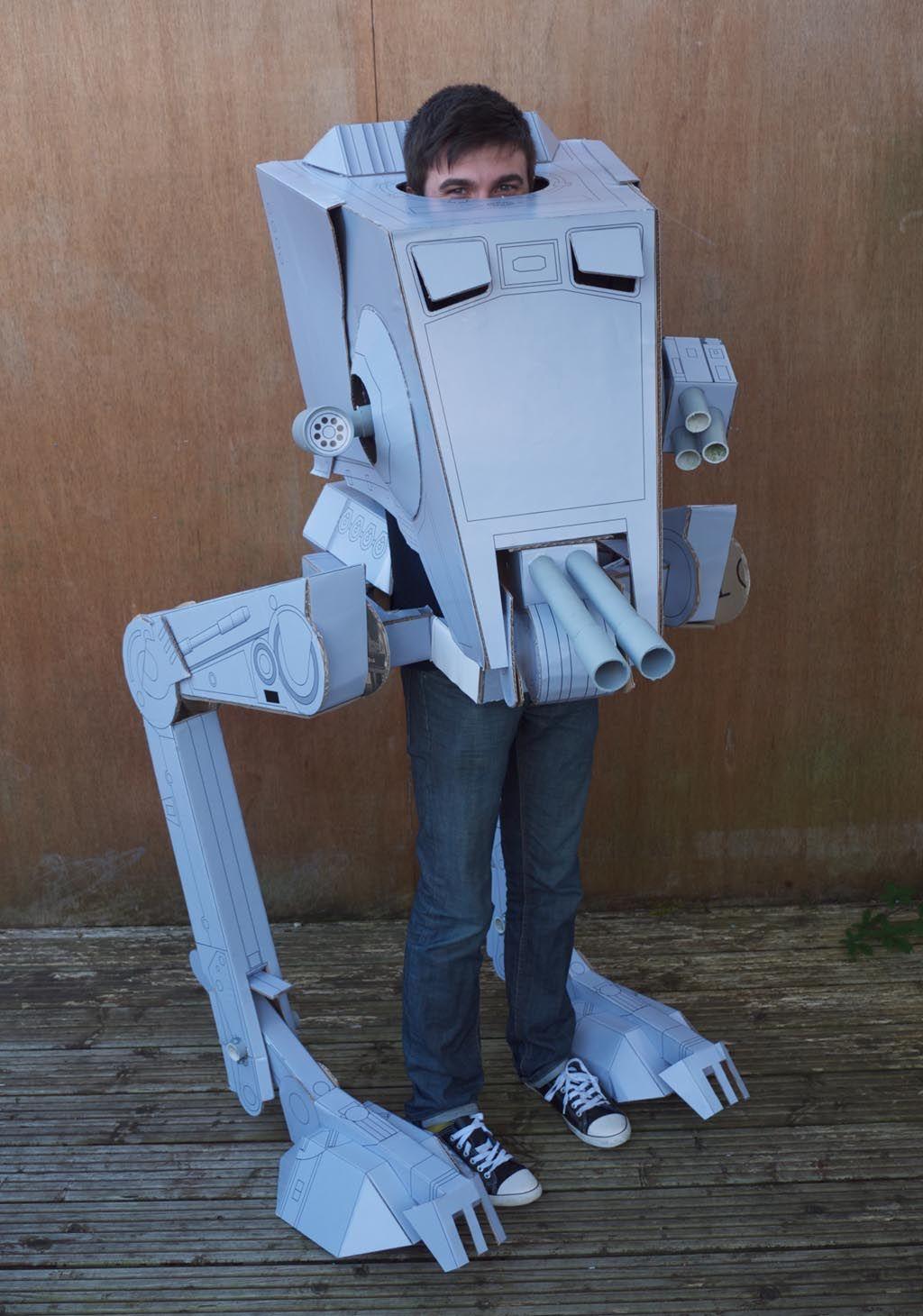 Star Wars AT-ST Costume | Cardboard costume, Robot ...