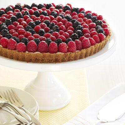 Honey-Drizzled Berry Tart #fruit #dessert #spring