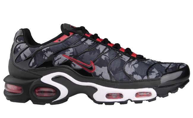 "low priced 47eab f5eaf Nike Tuned 1 (Air Max Plus) ""Camo"" - Black   University Red -  KicksOnFire.com"