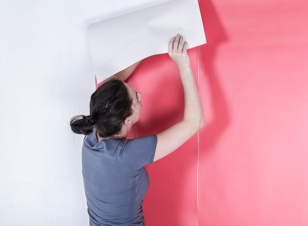 How To Hang Wallpaper With The Paste The Wall Technique How To Install Wallpaper How To Hang Wallpaper Wall Wallpaper