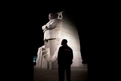 President Barack Obama tours the Martin Luther King, Jr. National Memorial