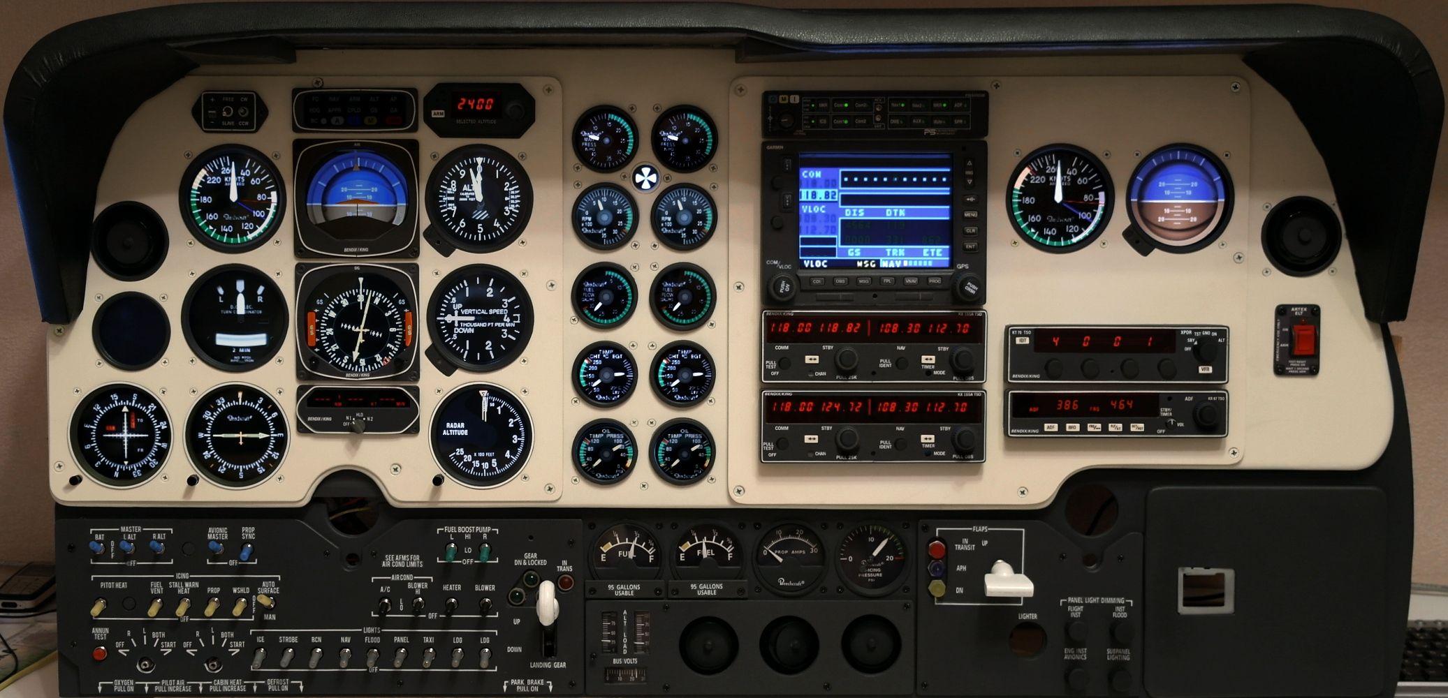 Baron home cockpit simulator project arduino