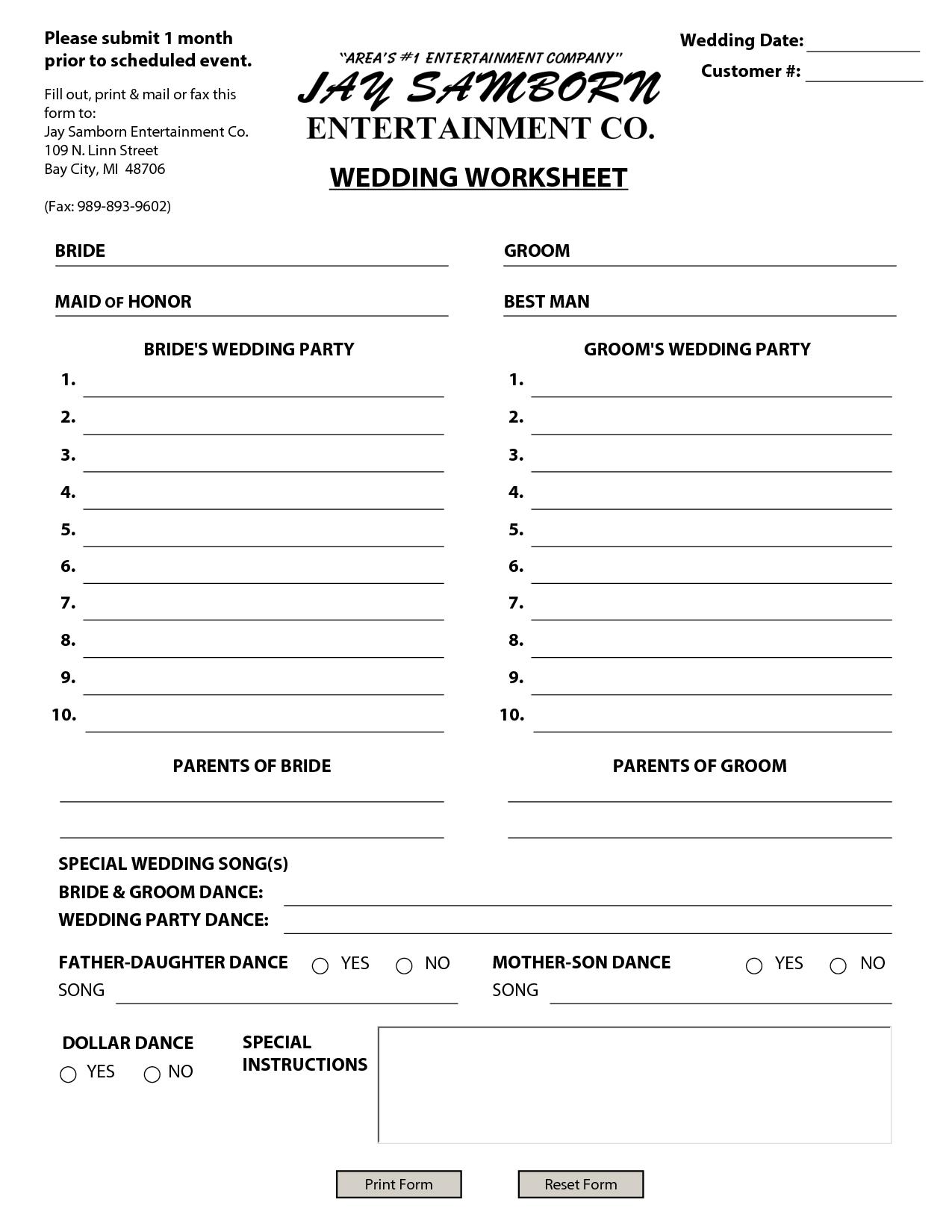 Wedding Budget Spreadsheet Wedding Budget Breakdo In
