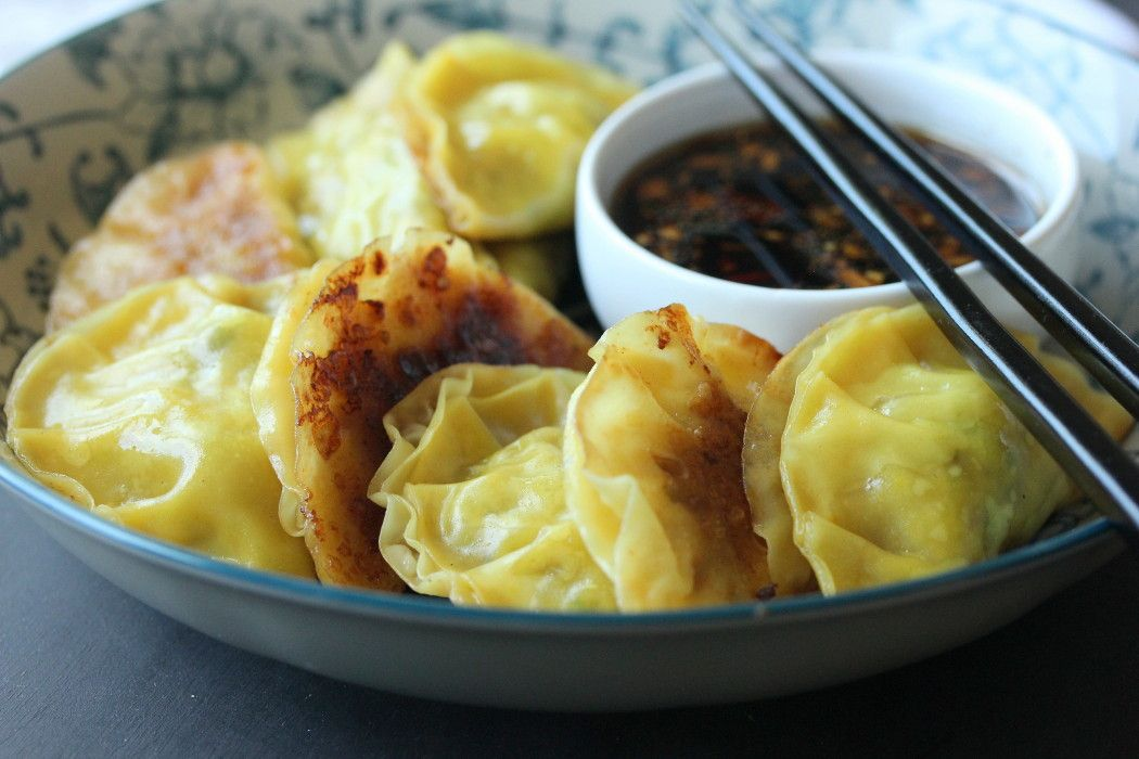 These Chinese Pot Stickers are amazing! Asian and absolutely authentic and  delicious. Serve with an awesome Ginger-Soy Dipping Sauce!