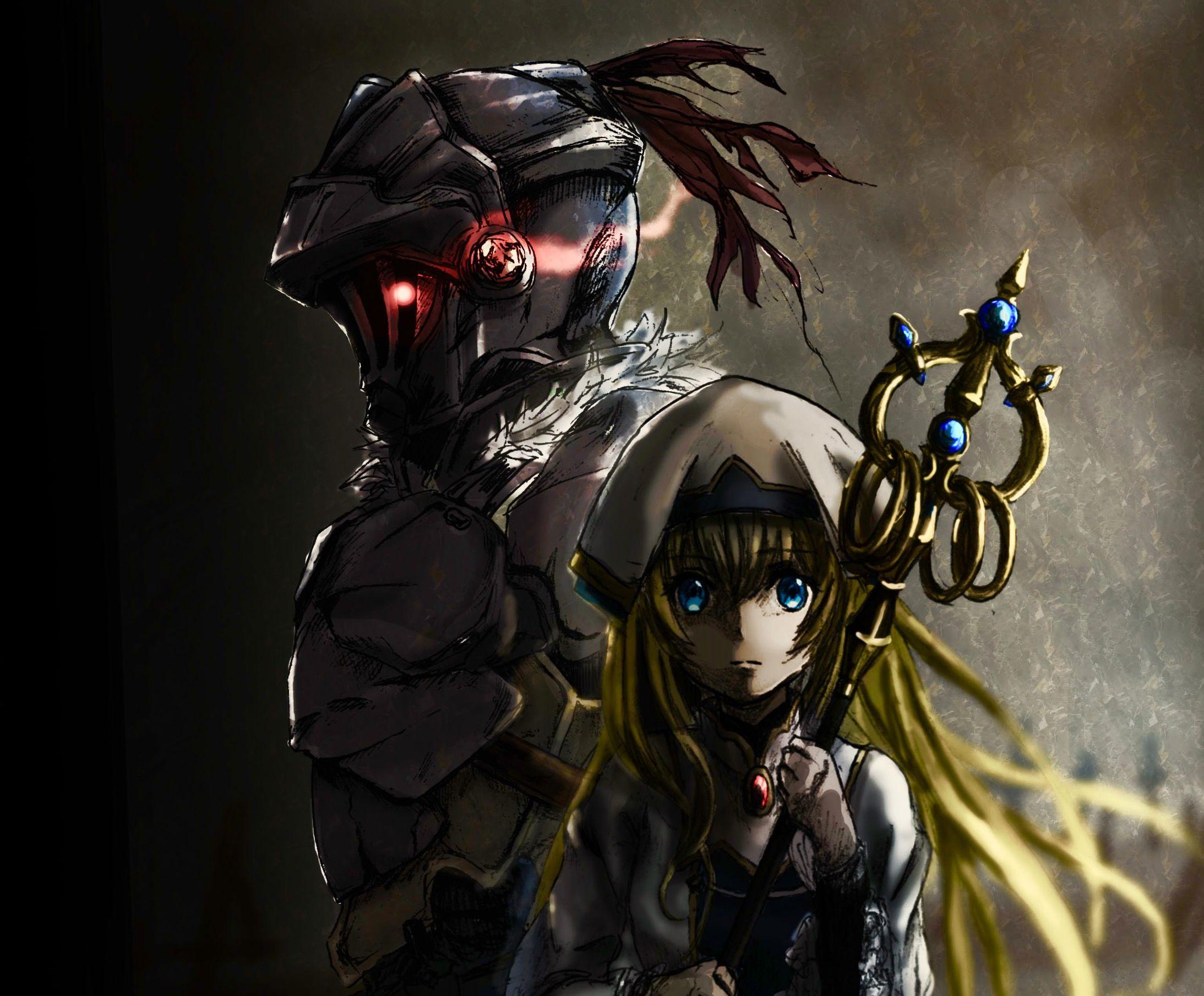 Goblin Slayer Y La Sacerdotisa Goblin Personajes De Anime Arte