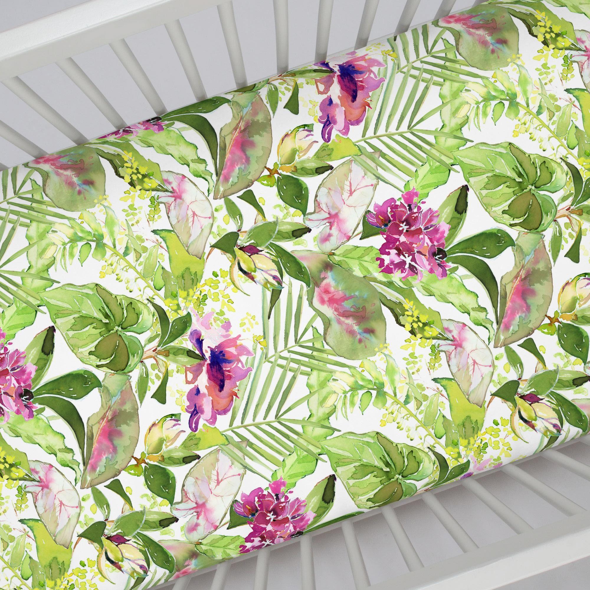 Tropical Garden Crib Sheet Crib Sheets Tropical Garden Cribs