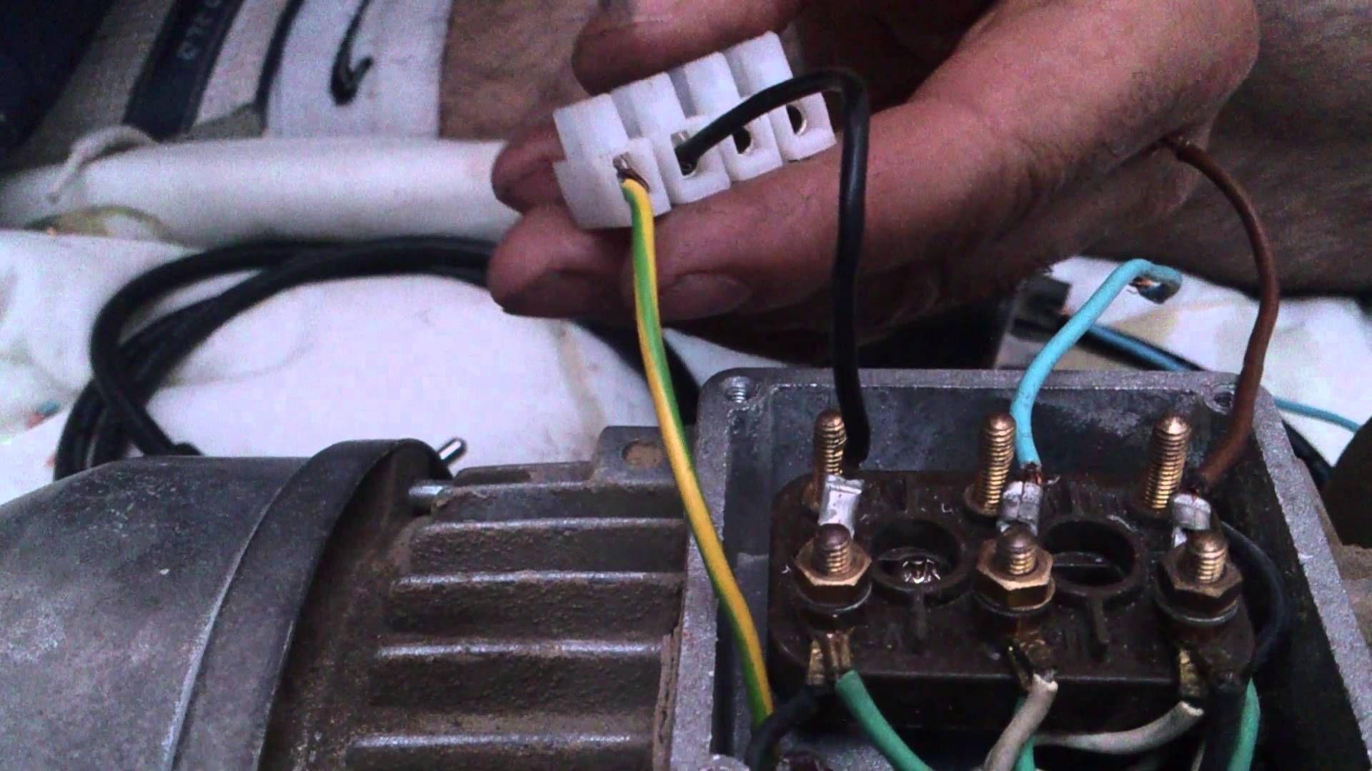 Como Transformar Motor Trifásico A Monofásico Motor Trifasico Motor De Lavadora Motor Eléctrico