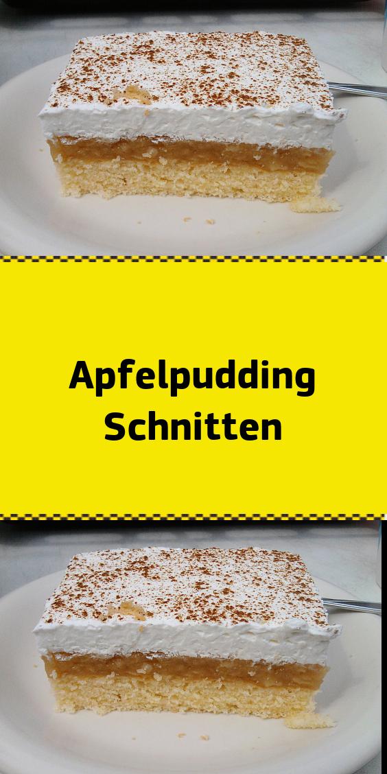 Apfelpudding Schnitten Kuchen Und Torten Rezepte Kuchen Kuchen Und Torten