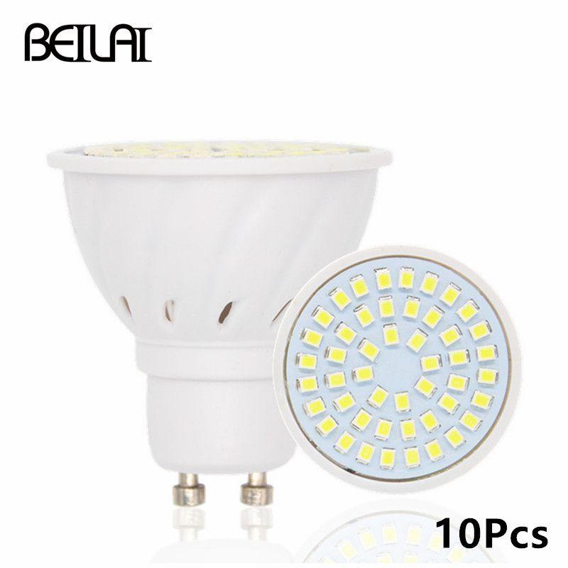 Aliexpress Beilai 10pcs 2835 Gu10 Bombillas Led Bulbs Lights 220v 2835 Lampada De Led Lamp Gu 10 Ampoule Led Spotlight Candle Led Lamp Led Spotlight Led Bulb