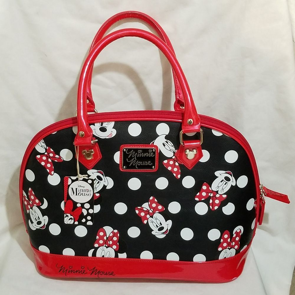 9d67d54066f7 Loungefly Disney Minnie Mouse Polka Dot Handbag Large Purse New Gift  Adorable #Loungefly #Dome