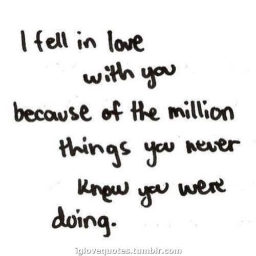Love quote : Love : I fell In Love with YOU