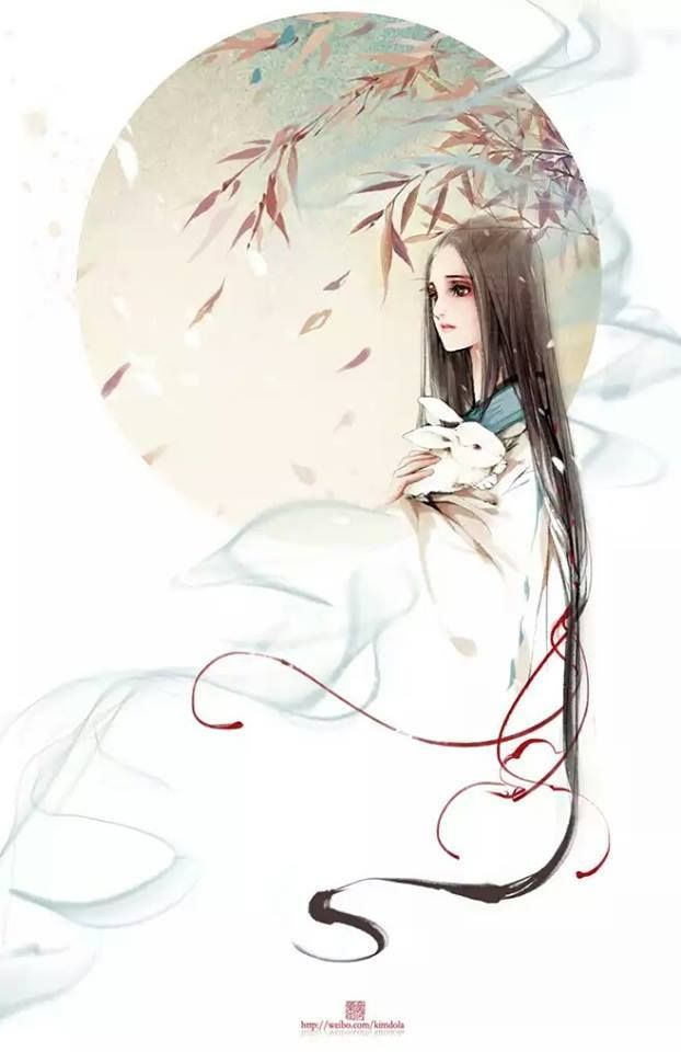 Chinese Hairstyles Ancient Art Work Fashion Design Anime Hanfu People Asian Style
